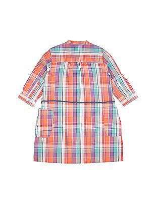 U.S. Polo Assn. Kids Girls Check Shirt Dress