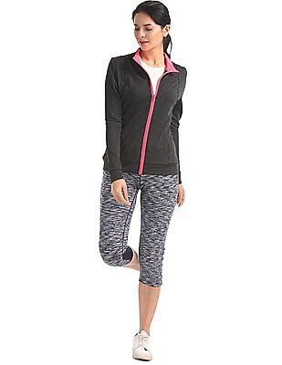 U.S. Polo Assn. Women Stand Collar Heathered Sweatshirts