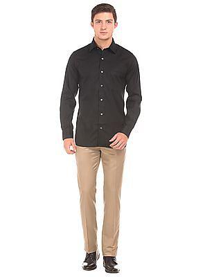Arrow Self Pattern Regular Fit Shirt