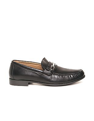 Johnston & Murphy Grained Leather Horsebit Loafers