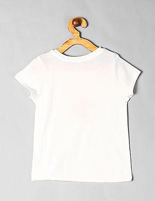 GAP White Toddler Girl Graphic Short Sleeve T-Shirt