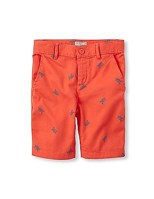 The Children's Place Boys Red Printed Shorts