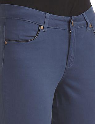 Elle Slim Fit Solid Trousers