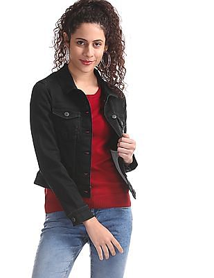 Aeropostale Black Washed Denim Jacket