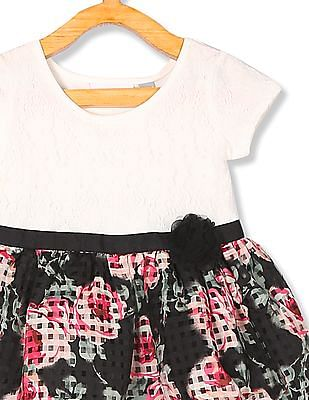 The Children's Place Off White And Black Toddler Girl Fit And Flare Dress