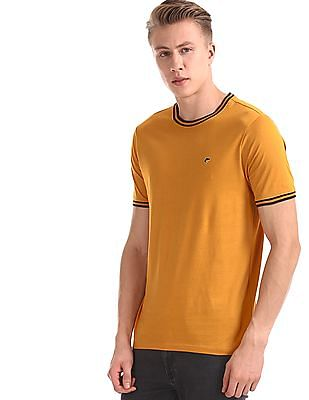 Ruggers Yellow Crew Neck Tipped T-Shirt