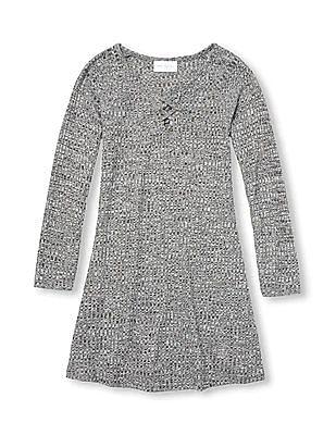The Children's Place Girls Long Sleeve Sweater Knit Dress