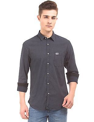 U.S. Polo Assn. Denim Co. Slim Fit Star Print Shirt