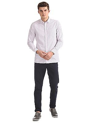 Excalibur Cutaway Collar Checked Shirt