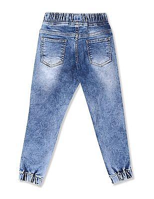 Colt Blue Boys Drawstring Waist Jogger Jeans