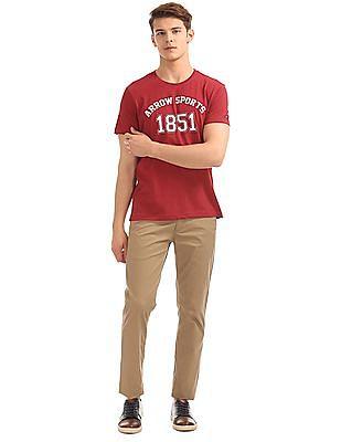 Arrow Sports Regular Fit Brand Print T-Shirt