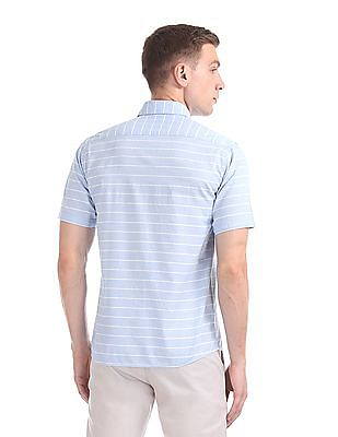 Arrow Sports Short Sleeve Striped Shirt