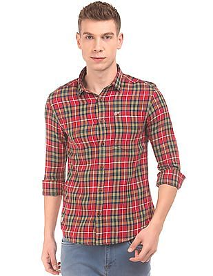 Ed Hardy Check Pattern Slim Fit Shirt