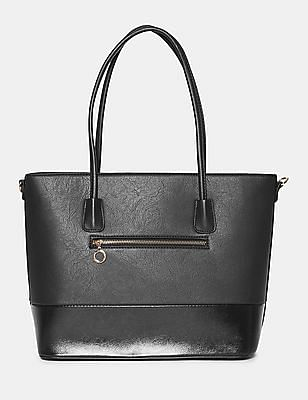 Stride Panelled Textured Tote Bag