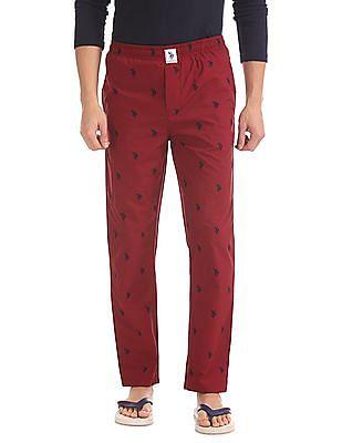 USPA Innerwear Regular Fit Printed Lounge Pants