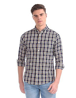 Gant Windblown Oxford Plaid Regular Button Down Shirt