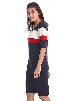 U.S. Polo Assn. Women Striped T-Shirt Dress