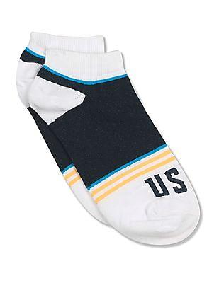 U.S. Polo Assn. Striped Ankle Socks
