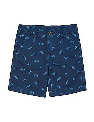 Cherokee Boys Car Print Shorts