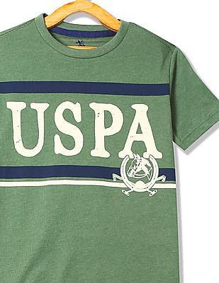 U.S. Polo Assn. Kids Boys Printed Crew Neck T-Shirt