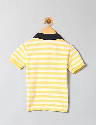 GAP Boys Yellow Striped Polo Shirt