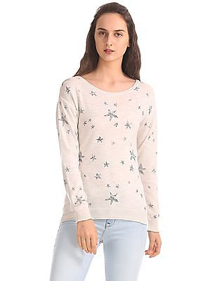 Aeropostale Regular Fit Star Print Sweater