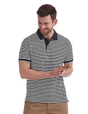 447cf6407 Gant Tech Prep Stripe Pique Short Sleeve Rugger Polo Shirt. SHOP NNNOW