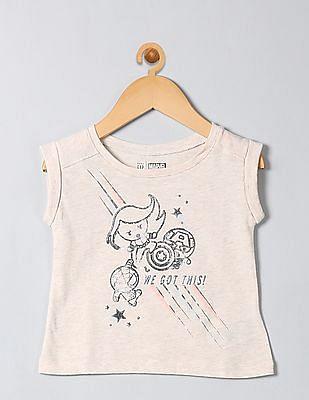 GAP Toddler Girl White Marvel© T-Shirt