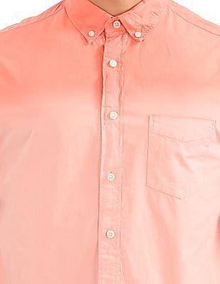 Aeropostale Dip Dyed Button Down Shirt