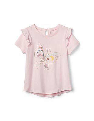 GAP Toddler Girl Ruffle Graphic T-Shirt