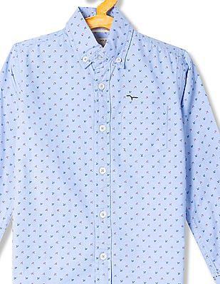 FM Boys Boys Printed Cotton Shirt