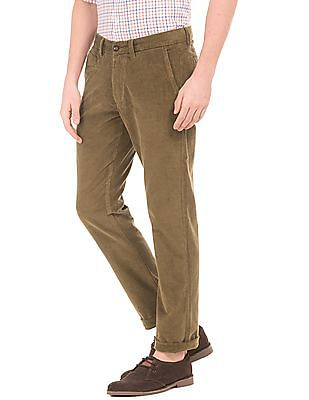 Arrow Sports Slim Fit Corduroy Trousers