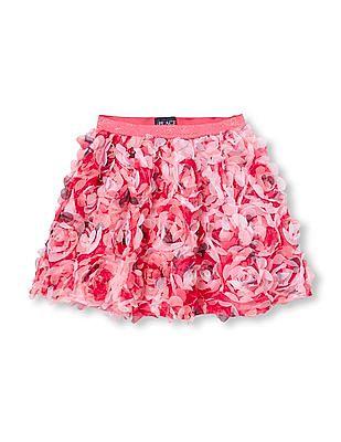 The Children's Place Girls 3D Rose Skirt