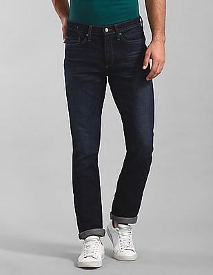 GAP Blue Slim Fit Stone Wash Jeans
