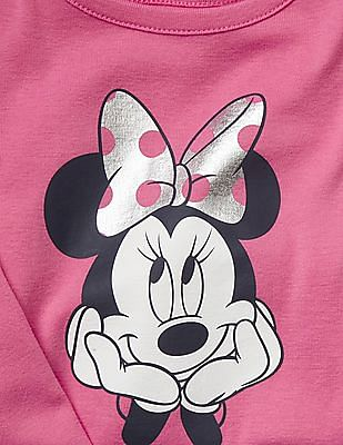 GAP Baby Pink Disney Minnie Mouse Foil Sleep Set