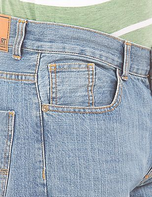 Newport Stone Wash Straight Fit Jeans