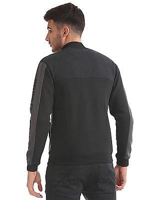 Flying Machine Slim Fit Colour Block Sweatshirt