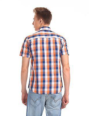 Flying Machine Short Sleeve Check Shirt