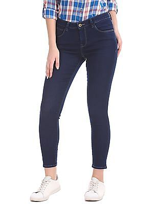 U.S. Polo Assn. Women Super Skinny Dark Wash Jeans