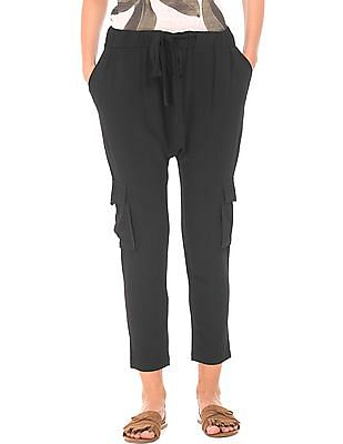 EdHardy Women Textured Drop Crotch Cargo Pants