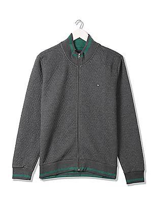 Arrow Sports Regular Fit Quilted Sweatshirt