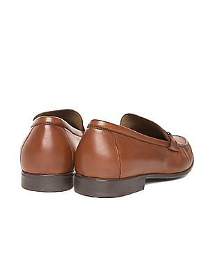 Johnston & Murphy Horsebit Trim Leather Loafers