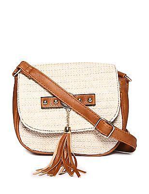 SUGR Magnetic Snap Tasselled Sling Bag