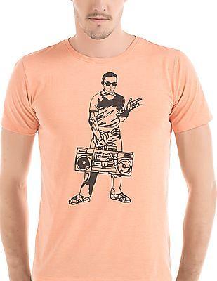 Colt Melange Printed T-Shirt