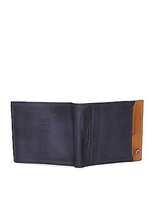 U.S. Polo Assn. Blue Cut And Sew Panel Leather Wallet