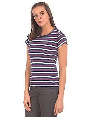 SUGR Crew Neck Striped T-Shirt