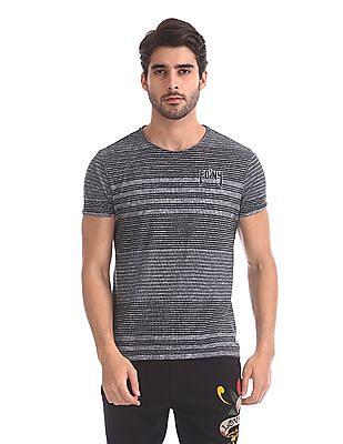 Ed Hardy Striped Crew Neck T-Shirt