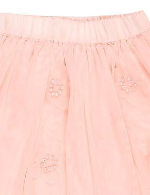 Cherokee Girls Embellished Tulle Skirt