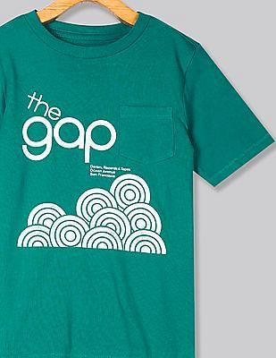 GAP Green Boys 50th Short Sleeve T-Shirt