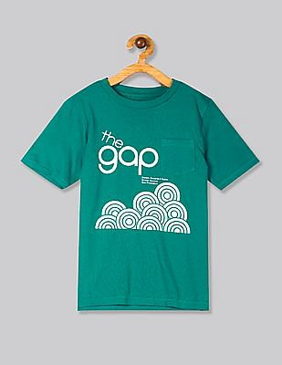 GAP Green Boys 50th Short Sleeve T-Shirt